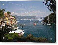 Portofino In The Italian Riviera In Liguria Italy Acrylic Print by David Smith