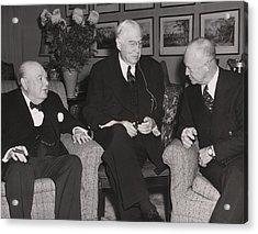 Prime Minister Winston Churchill Acrylic Print by Everett