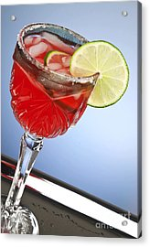Red Cocktail Drink Acrylic Print by Blink Images