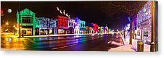 Rochester Christmas Light Display Acrylic Print by Twenty Two North Photography