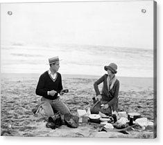 Silent Film Still: Picnic Acrylic Print by Granger