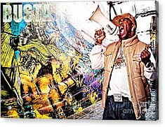Street Phenomenon Busta Acrylic Print by The DigArtisT