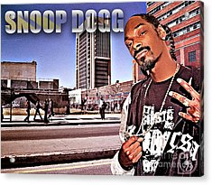 Street Phenomenon Snoop Dogg Acrylic Print by The DigArtisT