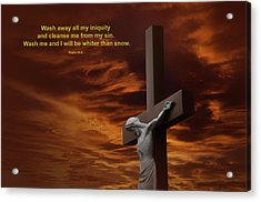 The Cross Acrylic Print by David Arment