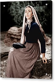 The Song Of Bernadette, Jennifer Jones Acrylic Print