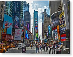 Times Square Acrylic Print by Pravine Chester