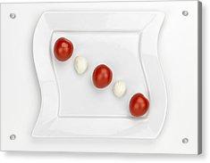 Tomato Mozzarella Acrylic Print by Joana Kruse