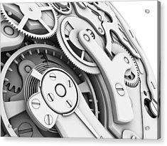 Wrist Watch Interior Acrylic Print by Pasieka