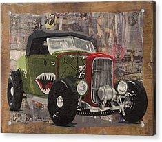 32 Ford Roadster Warhawk Acrylic Print