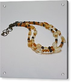 3514 Citrine Double Strand Necklace Acrylic Print