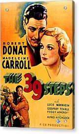 39 Steps, The, Robert Donat, Madeleine Acrylic Print