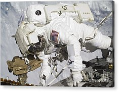 An Astronaut Participates In A Session Acrylic Print by Stocktrek Images
