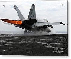 An Fa-18c Hornet Launches Acrylic Print by Stocktrek Images