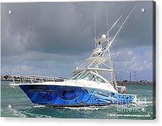 Boat Wrap Acrylic Print by Carey Chen