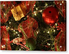 Christmas Ornaments Acrylic Print by Lonnie Moore
