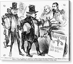 Civil War: Cartoon, 1861 Acrylic Print by Granger