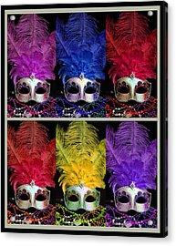 Colorful Mardi Gras Masks Acrylic Print