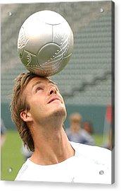 David Beckham At The Press Conference Acrylic Print