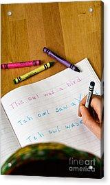 Dyslexia Testing Acrylic Print by Photo Researchers, Inc.