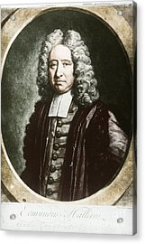 Edmond Halley, English Polymath Acrylic Print by Science Source