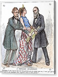 Election Cartoon, 1876 Acrylic Print by Granger