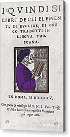 Euclid, Ancient Greek Mathematician Acrylic Print by Science Source