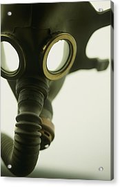 Gas Mask Acrylic Print by Lawrence Lawry