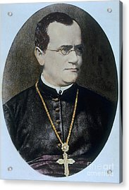 Gregor Mendel, Father Of Genetics Acrylic Print by Science Source
