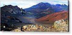 Haleakala Crater In Maui Hawaii Acrylic Print