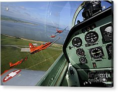 Inside The Pilatus Pc-7 Turboprop Acrylic Print by Daniel Karlsson