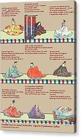 Japanese Poems Acrylic Print by Steve Mangan