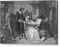 Johannes Gutenberg, German Inventor Acrylic Print by Photo Researchers