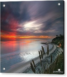 Long Exposure Sunset At A North San Acrylic Print by Larry Marshall