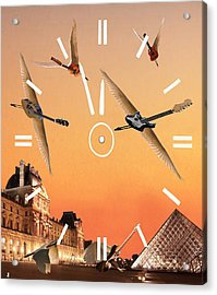 Acrylic Print featuring the digital art 4 Minutes To Rock by Eric Kempson