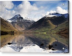 Mountains And Lake, Lake District Acrylic Print by John Short