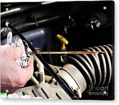 Oil Check Acrylic Print by Photo Researchers