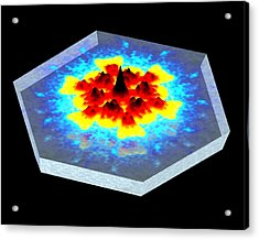 Quantum Waves In Topological Insulators Acrylic Print by Dr A. Yazdani