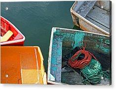 4 Row Boats Acrylic Print