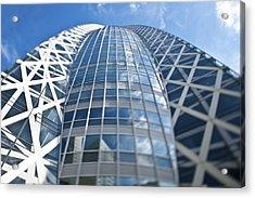 Skyscrapers In Tokyos Shinjuku Acrylic Print by Eddy Joaquim