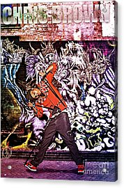 Street Phenomenon Chris Brown Acrylic Print by The DigArtisT