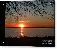 Sunset Chesapeake Bay Acrylic Print by Valia Bradshaw