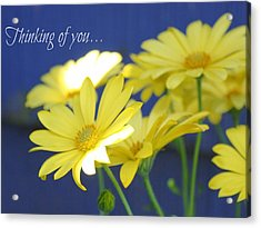 Thinking Of You... Acrylic Print by Cathie Tyler
