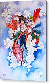 tradition Chinese painting on wall  Acrylic Print by Phalakon Jaisangat