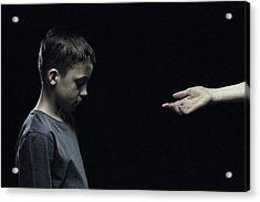 Unhappy Boy Acrylic Print by Kevin Curtis