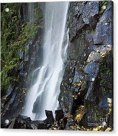 Waterfall Of Vaucoux. Puy De Dome. Auvergne. France Acrylic Print by Bernard Jaubert