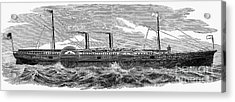 4 Wheel Steamship, 1867 Acrylic Print by Granger