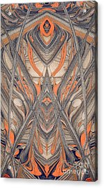 Paint Reflection Acrylic Print by Odon Czintos