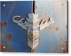 48 Chrysler Hood Emblem Acrylic Print by Gordon H Rohrbaugh Jr