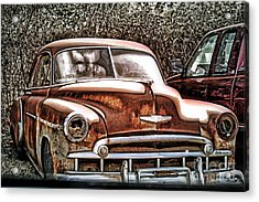Acrylic Print featuring the photograph 49 Chevy by Joe Finney
