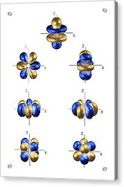4f Electron Orbitals, General Set Acrylic Print by Dr Mark J. Winter
